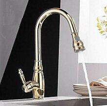 Küchenmischer Gold Ausziehbar Küchenarmatur Deck