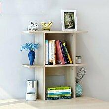 Küchenmöbel-WXP Bücherregal Regale Easy Desktop Regale kreative Bücherregal Tisch Regal Kleine Bücherregal Schreibtisch Speicher WXP-Küchenschränke und Besteckschränke ( Farbe : #3 , größe : Kleine )