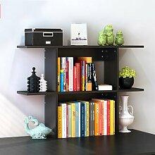 Küchenmöbel-WXP Bücherregal Regale Easy Desktop Regale kreative Bücherregal Tisch Regal Kleine Bücherregal Schreibtisch Speicher WXP-Küchenschränke und Besteckschränke ( Farbe : #1 , größe : Mittel )