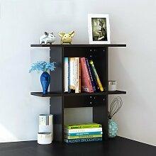 Küchenmöbel-WXP Bücherregal Regale Easy Desktop Regale kreative Bücherregal Tisch Regal Kleine Bücherregal Schreibtisch Speicher WXP-Küchenschränke und Besteckschränke ( Farbe : #1 , größe : Kleine )