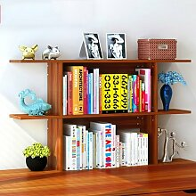 Küchenmöbel-WXP Bücherregal Regale Easy Desktop Regale kreative Bücherregal Tisch Regal Kleine Bücherregal Schreibtisch Speicher WXP-Küchenschränke und Besteckschränke ( Farbe : #4 , größe : Große )