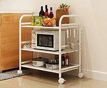 Küchenmöbel-WXP Regale Küchenregale Mikrowelle Bodenständer Speicherfach Multi-Rack Schüssel Regal Backofenrost WXP-Küchenschränke und Besteckschränke ( größe : Long 50cm )