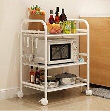 Küchenmöbel-WXP Regale Küchenregale Mikrowelle Bodenständer Speicherfach Multi-Rack Schüssel Regal Backofenrost WXP-Küchenschränke und Besteckschränke ( größe : Long 40cm )