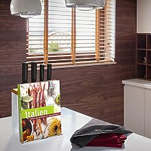 Küchenorganizer 'COOKIE' Messerblock Geschirrtuchhalter Buchhalter Tabletthalter Küchenhelfer