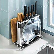 Küchenpfanne Rack Messer Topf Deckel