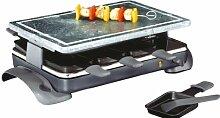 Küchenprofi 1740000000 8er Raclette-Grill Hot Stone 9, Edelstahl, grau 9 Einheiten