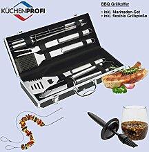 Küchenprofi Grillkoffer 8-teilig mit Marinaden Set und 2 Grill Spießen - vom autorisierten Fachhändler
