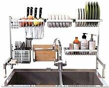 Küchenregal aus Edelstahl für Spülbecken,