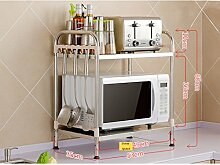 Küchenregal Edelstahl 2-Tier Mikrowelle