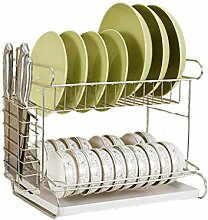 Küchenregal Edelstahl Dish Rack Doppelablass Dish