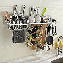 Küchenregal Edelstahl-Küchenregal mit Geländer