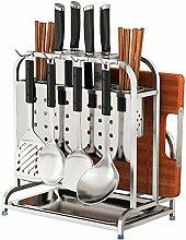Küchenregal Edelstahl Messerhalter Mit Messer