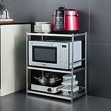 Küchenregal, Edelstahl, multifunktional, 60 cm,