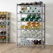 Küchenregal für Flaschen Stahl