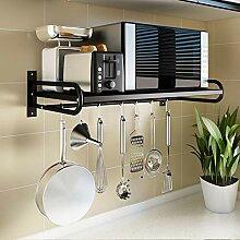 Küchenregal für Mikrowelle, Wandregal Metall