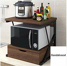 Küchenregal Mikrowellenherd mit Schubladen