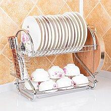 Küchenregal mit 2 Abflüssen und Abtropfgestell