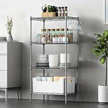 Küchenregal mit 4 Ebenen, Regal Lagerregal mit 5