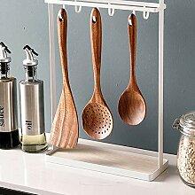 Küchenregal Regal,Doppelseitiger Hakenkunst Aus