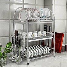 Küchenregal Rostfreier Stahl, Bodenständig