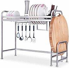Küchenregal Silber Edelstahl Waschbecken Rack