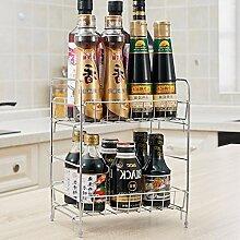 Küchenregal Utensil Küchen Lagerung Regal 2F Menage Würzen Regalboden Chopper Regal Storage Rack ( größe : A )
