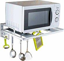 Küchenregal, Wand-Aluminium-Mikrowelle Racks,