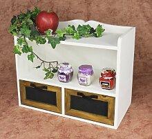 Küchenregal Weiß 37cm Wandregal Minikommode