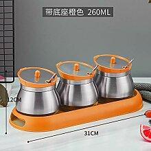 küchenregal würze box Glas Ton nach Hause