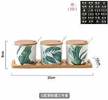 küchenregal würze box Glasset kreative Keramik