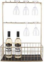 Küchenregal XL für Gläser und Flaschen Schwarz