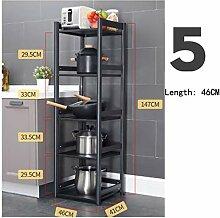 Küchenregale Kühlschrank Lücke Lagerung Boden