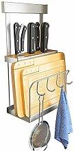 Küchenregale Wand- Lochen-Free Edelstahl