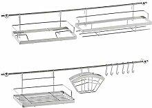 Küchenreling 16 TEILE Gerätehalter Hakenleiste