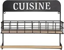 Küchenrollenhalter aus schwarzem Metall