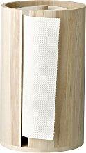 Küchenrollenhalter D. 14,5cm H. 25,5cm Holz natur
