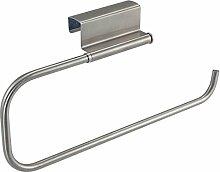 Küchenrollenhalter HE5, Tür-Rollenhalter Folienabroller Küchenrollen-Türhänger, Edelstahl