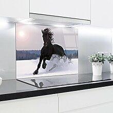 Küchenrückwand aus gehärtetem Glas 90x65 cm