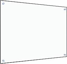 Küchenrückwand Transparent 80×60 cm Hartglas
