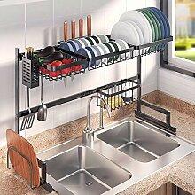 Küchenschalen Abtropffläche Regal über