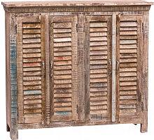 Küchenschrank aus Massivholz (Altholz) mit