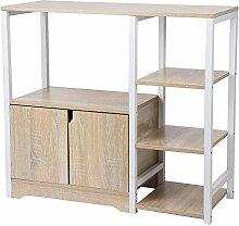 Küchenschrank mit 4 Ablagen und 2 Türen,