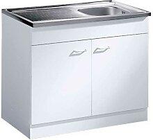 Küchenschrank mit Edelstahl-Spüle