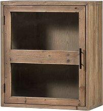 Küchenschrank mit einer Glastür Holz Antik