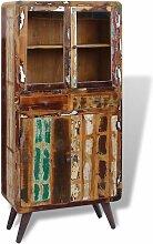 Küchenschrank Recyceltes Massivholz 90x40x190 cm