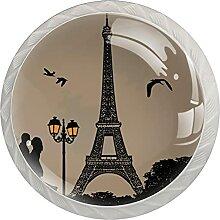 Küchenschrankknöpfe Eiffelturm Schubladengriffe