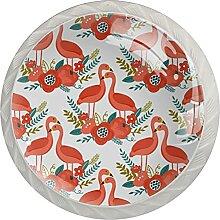 Küchenschrankknöpfe Flamingoblume