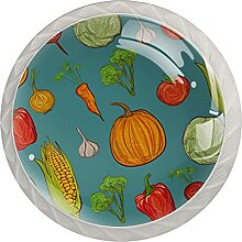 Küchenschrankknöpfe Gemüse Schubladengriffe