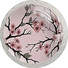 Küchenschrankknöpfe Pfirsichblütenzweig
