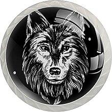 Küchenschrankknöpfe Wolfskopf Schubladengriffe